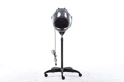 BarberPub Professional Adjustable Hooded Floor Hair Bonnet Dryer Stand up Rolling Base with Wheels Salon Spa Beauty Equipment VHD08 by BarberPub