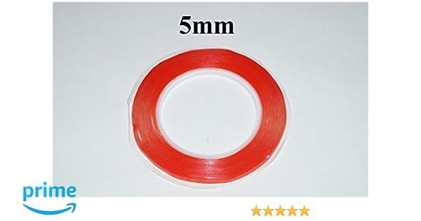 Cinta rojo adhesiva doble cara de 5mm (50m de largo) Original 3M