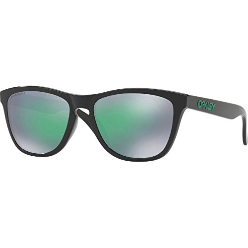Oakley Men's OO9245 Frogskins Asian Fit Rectangular Sunglasses, Polished Black/Prizm Jade, 54 mm (Oakley Asian Fit Damen)