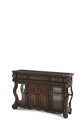 Price comparison product image Michael Amini Essex Manor Sideboard Cabinet,  Deep English Tea