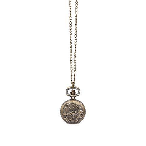 Best Gift!!!Redvive Top Vintage Steampunk Retro Bronze Design Pocket Watch Quartz Pendant Necklace Gift