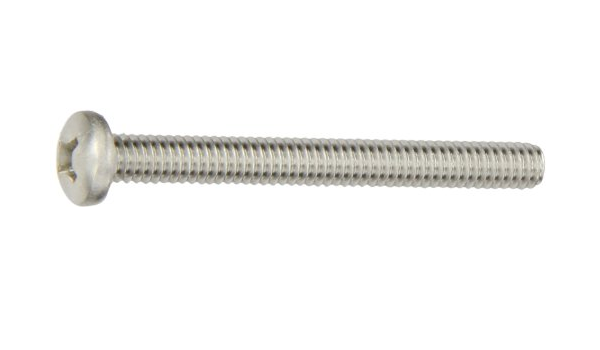 2 Length Pan Head Passivated Finish 300 Series Stainless Steel Machine Screw Phillips Drive Meets MS 51957 Fully Threaded Pack of 25 #8-32 UNC Threads 2 Length Small Parts FSCMS51957-53