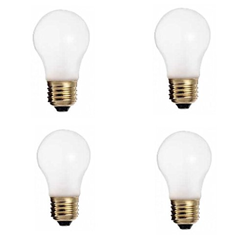 Satco S3871 130-Volt 60-Watt A15 Medium Base Light Bulb, Frosted (4-Pack) 60w A15 Medium Bulb