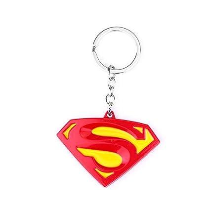 TUDUDU Superman Llavero con Rojo S Letter Logo Superhéroes ...