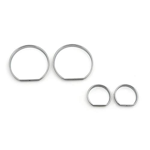 Areyourshop Chrome Gauge Dash Dial Rings Bezel Trim Speedometer Frame For E46 1999-2006: