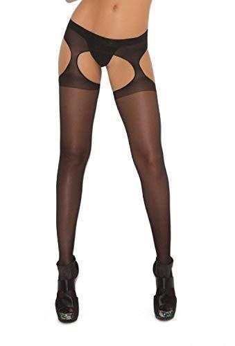 - Sheer Suspender Pantyhose Nylons Hosiery Regular or Plus Size Black
