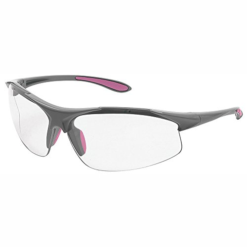 Erb Safety Glasses - ERB Safety Products 18622 Ella Frame, Clear Lens, One Size, Gray