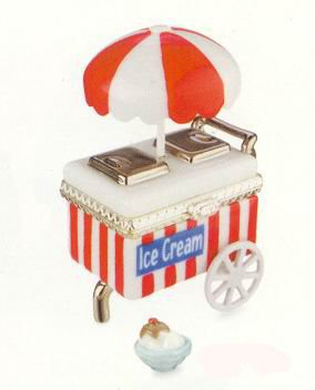 Ice Cream Cart with Sundae PHB , Porcelain Hinged ()