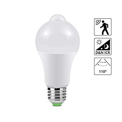 PIR Motion Sensor LED lamp Bulb, LED Lights Bulb, AIMENGTE 12W 18W E27 AC85-265V Night Sensor Light for Corridor Aisle Stairs Balcony Emergency Lighting Dusk to Dawn.