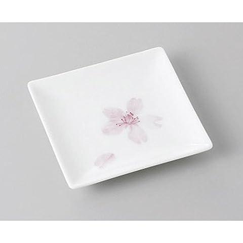 [mkd-264-1-2e] Small dish cherry blossom duplicate square plate [9.3 x 9.3 x 1.3 cm] Tatei Ryokan Japanese style dish for restaurant (Duplicate Plate)