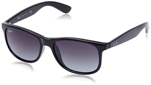 Ray-Ban ANDY - BLACK Frame GRAY GRADIENT Lenses 55mm - Spectacles Ban Ray