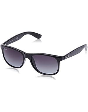 Mens 0RB4202 Rectangular Sunglasses, Brown,Grey