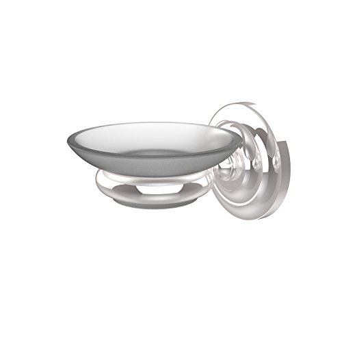 Allied Brass Polished Soap Dish - Allied Brass PQN-62-PC Wall Mounted Soap Dish Holder, Polished Chrome
