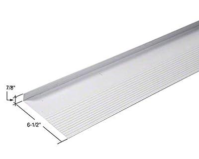 "CRL 6.5"" White Adjustable Vinyl Sill Pan - 108"" Length"