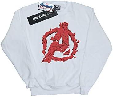 Marvel Herren Avengers Endgame Shattered Logo Sweatshirt Weiß X-Large