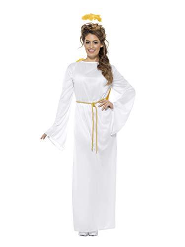 Smiffy's Men's Angel Gabriel Costume, Unisex, White, One Size
