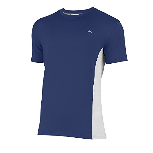 Arctic Cool Men's Crew Neck Instant Cooling Shirt with Mesh Side Panels, Midnight Blue, ()