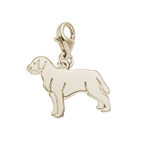 (Rembrandt Charms Labrador Retriever Charm with Lobster Clasp, Gold Plated Silver)