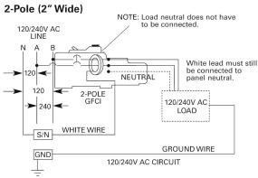 siemens qf220 20 amp 2 pole 240 volt ground fault circuit double pole wiring schematic