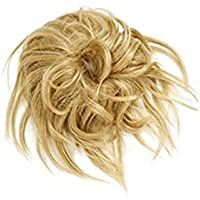 LAOLEE Tousled Updo Messy Krullend Broodje Haarstukje Pluizige Haarverlenging Paardenstaart Scrunchies Pluizige…
