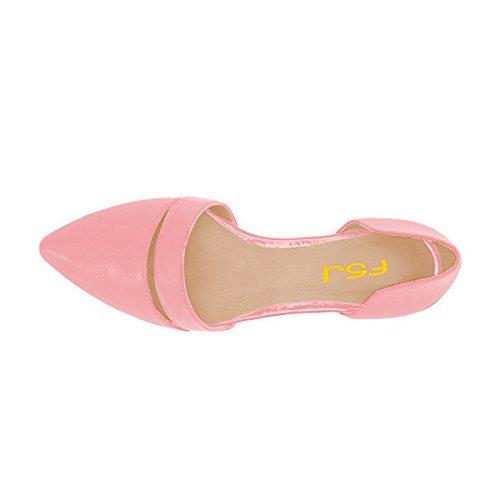 Fsj Vrouwen Schattige Dorsay Ballerinas Voor Comfort Wees Teen Lage Hakken Jurk Schoenen Maat 4-15 Ons Roze