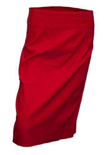 EVogues Plus Size Pencil Skirt Red - 3X