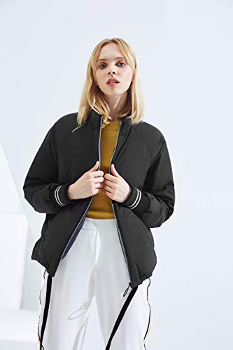 Down Bomber Women's Bosideng Jacket Negro Short qwS1PPtET