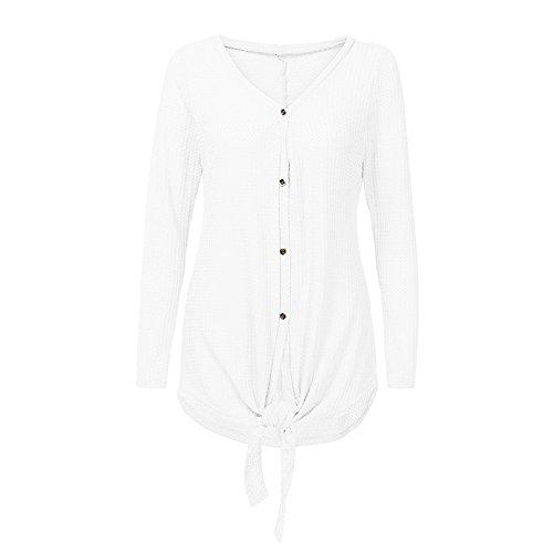 Tops Tricot Blanc Chauve Champion Femmes Tunique Chemise Noeud Plaine MORCHAN Chemise Cravate Blouse Henley Souris qz6wtxv