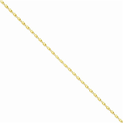 Jewelry Adviser Bracelets 14k 2.5mm Marquise Chain Length - 14k Bracelet Marquise