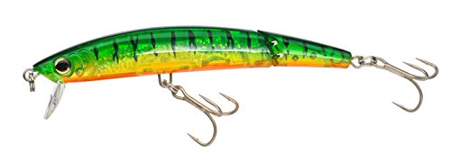 Yo-Zuri Crystal 3D Minnow Jointed Floating Lure, Hot Tiger, 5-1/4-Inch