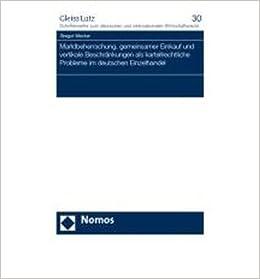 Book Marktbeherrschung, gemeinsamer Einkauf und vertikale Beschr?nkungen als kartellrechtliche Probleme im deutschen Einzelhandel (Paperback)(German) - Common