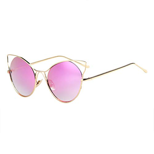 de Lunettes Eye rétro Couleur lunettes Grande Soleil New Personality Tide Sport de Femme A boîte Cat soleil Des B FwCq68
