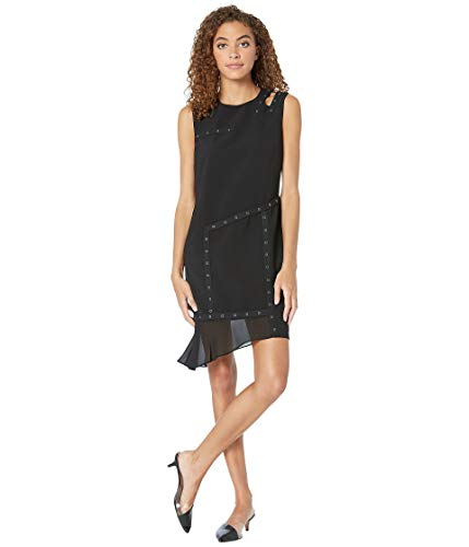 Nicole Miller Women's Grommet Dress w/Cut Out Shoulder Black 6