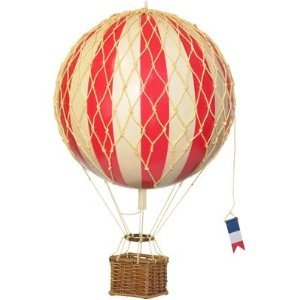 Amazon Com Authentic Models Travels Light Hot Air Balloon Model In True Red Home Kitchen