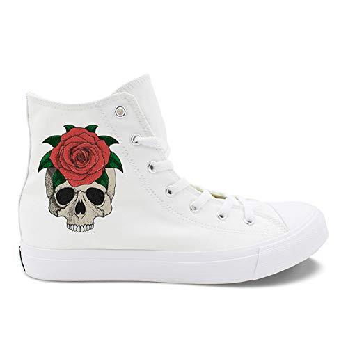 High Help Schuhe New Deck Outdoor Liebhaber Flache Schuhe White Ladies Spring Womens Schuhe Fall Leinwand Neue Espadrilles 38 Spitzen p8wq8Cd0x