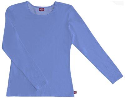 Hospital Medical Long Sleeve (Dickies Medical Scrubs 84770 Women's EDS Silky Long Sleeve Crew Neck Tee Ceil Blue Medium)