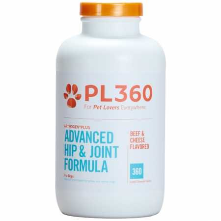 PL360 Advanced Hip and Joint Support for Dogs with Glucosamine and MSM, Arthogen Plus, 360 Count ()