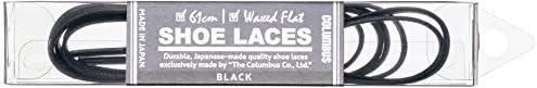 仕立てが良く綺麗に収まる コロンブスシューレース ロービキ 平紐 メンズ