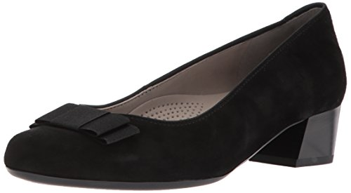 Ara Leather Heels (ara Women's Nisha Pump, Black Suede, 7.5 M US)