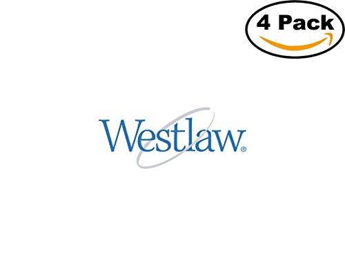 Westlaw 4 Stickers 4X4 Inches Car Bumper Window Sticker Decal