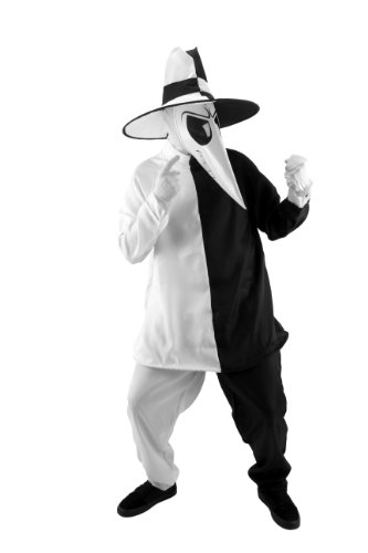Halloween Spy Costume (elope Licensed Spy Costume, Black/White, Small/Medium)