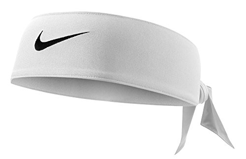 Nike Dri-Fit Head Tie 2.0 (One Size Fits Most, White/Black)