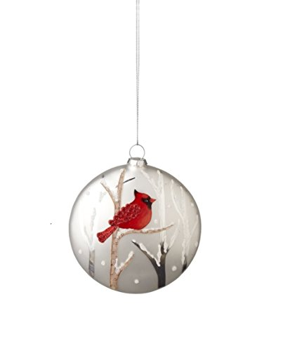 - Midwest-CBK Cardinal Disc Glass Holiday Ornament