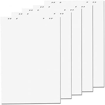 papier pour paperboard 10 Bl/öcke blanco chaque Bloc 20/feuilles 69/x 99/cm 6/perforations 10/x flipchartbl/öcke Blanc Blanco//blanco Markerset 6er perfor/é