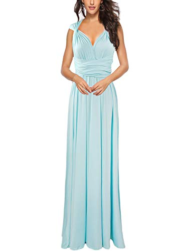 PERSUN Women's Convertible Multi Way Wrap Maxi Dress