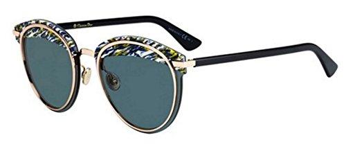 New Christian Dior OFFSET 1S 9N7/2K yellow blue tweed black/Grey Eye - Offset Sunglasses