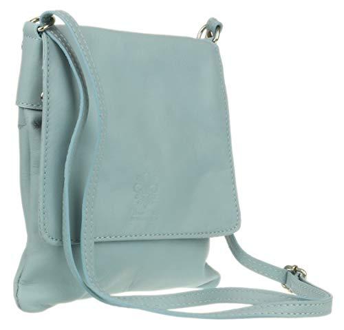 Piel Mujer De Rs Cruzados Azul Claro fashions Para Bolso wHHtIY