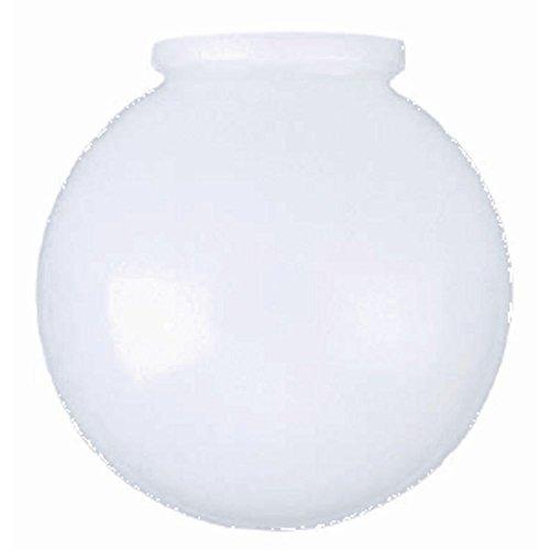 6 Inch White Glass Globe Opening product image