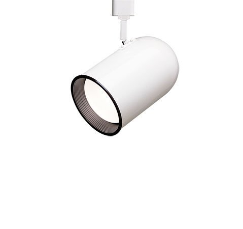 Round Back Cylinder with Deep Baffle Luminaire Line Voltage Track Head Track Type: Juno Series, Color: Black