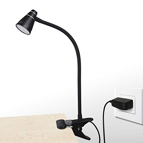 CeSunlight A9 LED Clip Desk Lamp (Black), Headboard Light with Strong Clamp, Bed Reading Light with 3000k-6500K Adjustable Color Temperature Options for Brighter Illumination